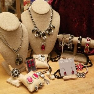 Brilliant Rhinestones in Red Silver and Black lot!